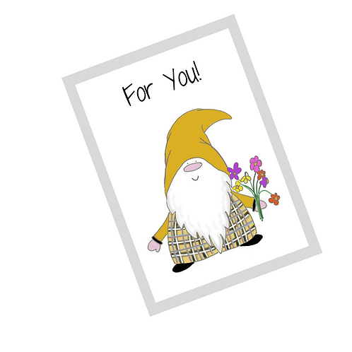 The Cornish Gnome Dreckly - For You greetings card