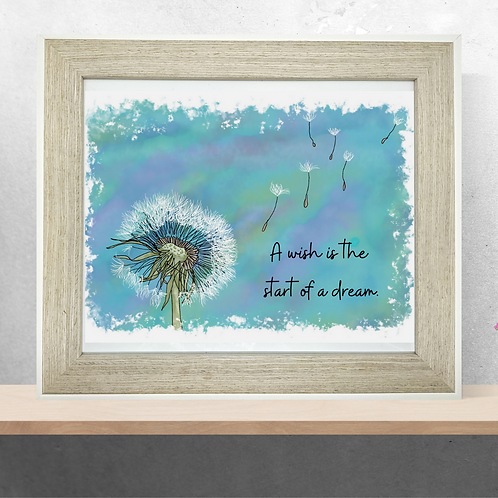 Quote Art Print, The Wish