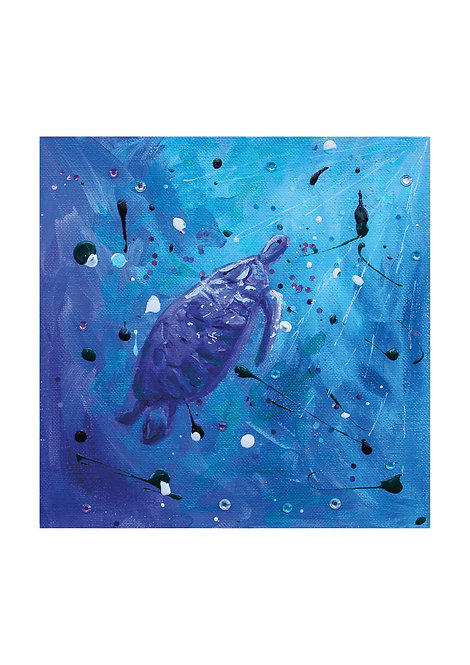 Sea Turtle painting | The original painting of 'Towards the Light'