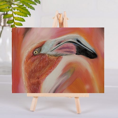 Animal Aura - Flamingo - Greetings Card