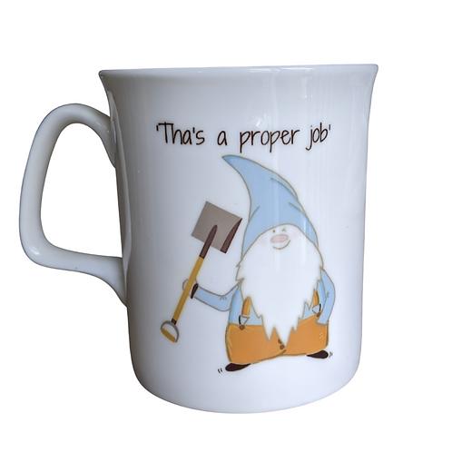 Cornish Gnome Mug - Farmer Proper Job -bone china, handprinted, personalise