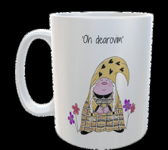 Cornish Gnome Mug - Dearovim - Ceramic , hand printed, personalise option