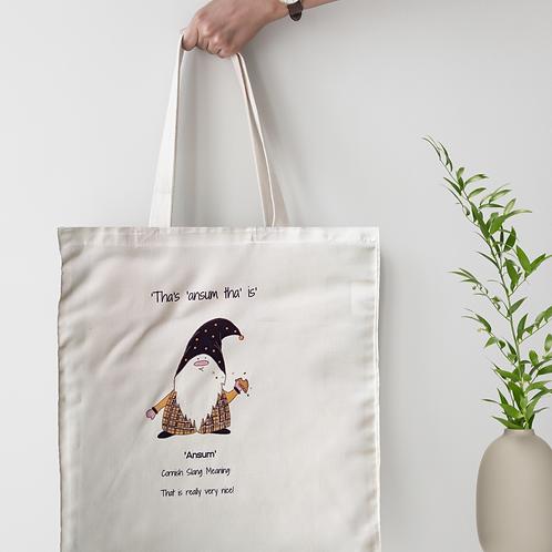 Cornish Gnome 'Ansum' Tote Bag - personalise option