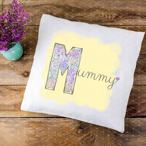 MUM, MUMMY, MAM floral watercolour cushion designs templates