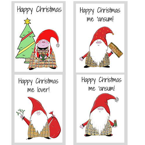 The Cornish Gnome Christmas Card set 4 for £10