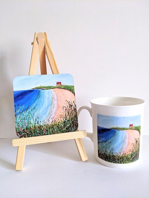 Fistral Beach Mug and Coaster set