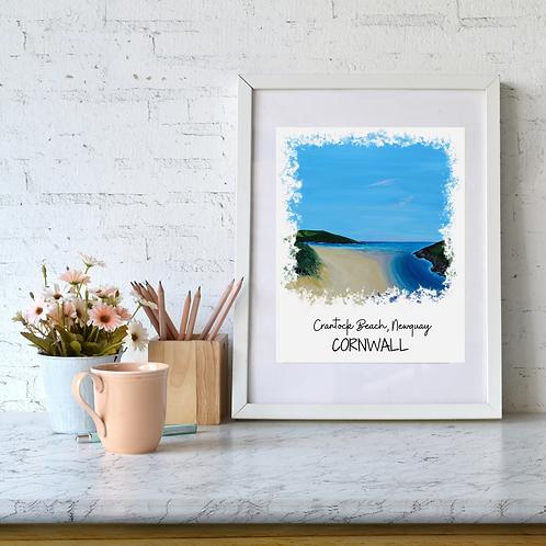 Crantock Beach, Newquay, Cornwall art print