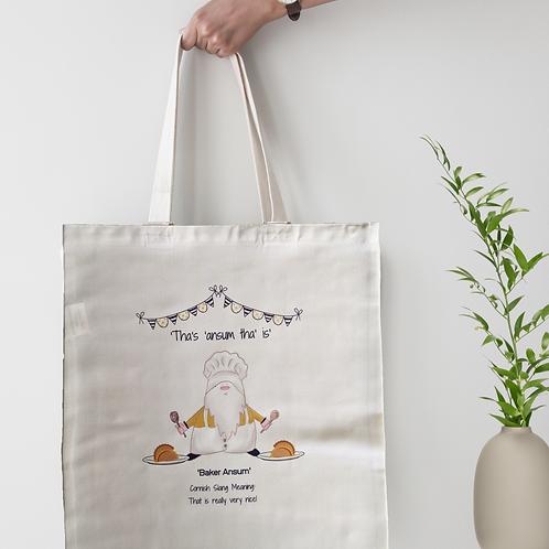Cornish Gnome 'Baker Ansum' Tote Bag - personalise option