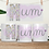 Thumbnail: MUM, MUMMY, MAM,MOM floral coloured in 'M' Mother's Day mug design templates