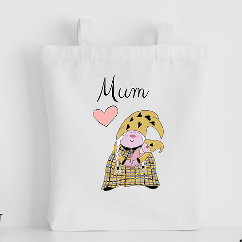 The Cornish Gnome Mothers Day Tote Bag - Mum Baby Girl