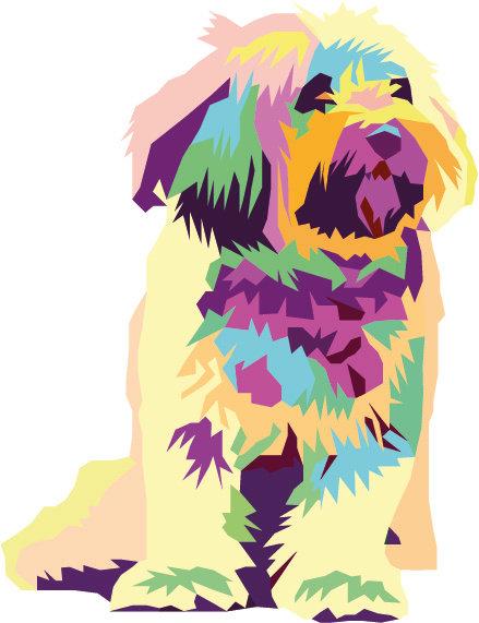 Pet Portrait - Pop Art - pastels