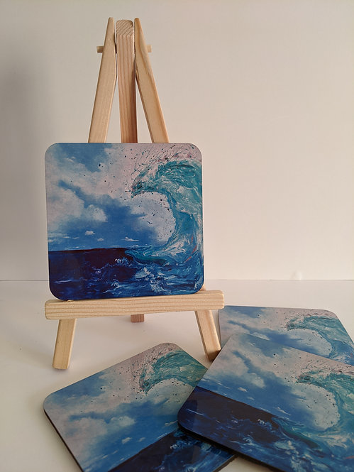 Fluid wave coasters 4 pack (square)