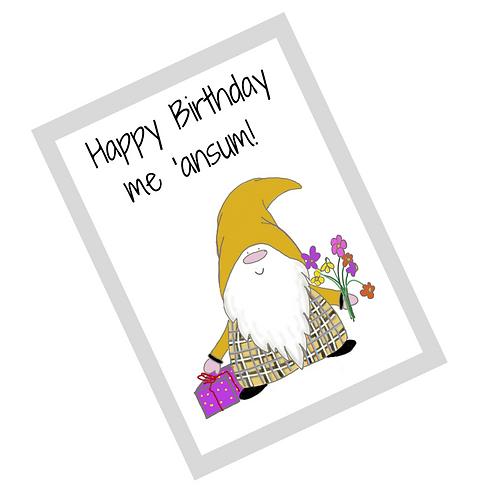 The Cornish Gnome Dreckly birthday card