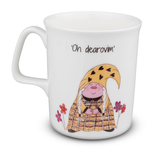 Cornish Gnome Mug - Dearovim - Bone China , hand printed, personalise option
