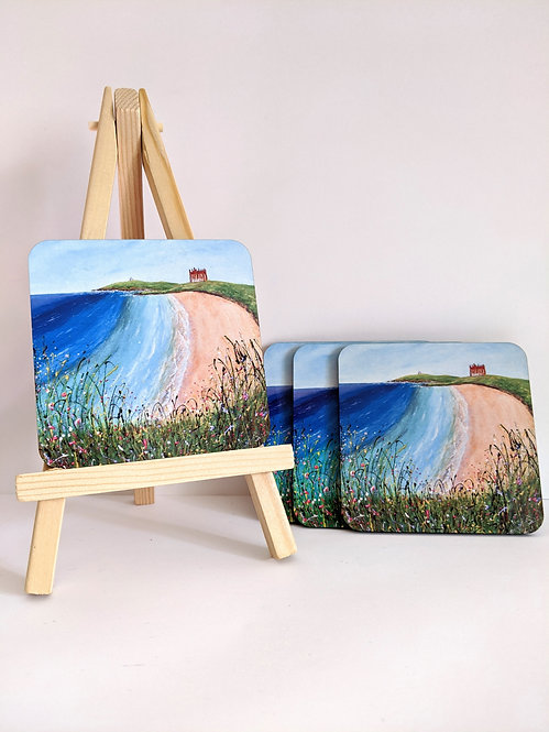 Fistral Beach coasters 4 pack (square)