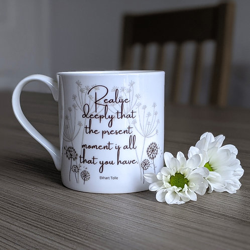Mindfulness quote mug - Bohdi range - Now