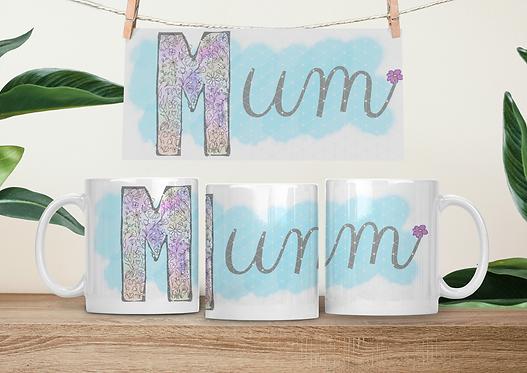 MUM, MUMMY, MAM,MOM floral watercolour filled design templates