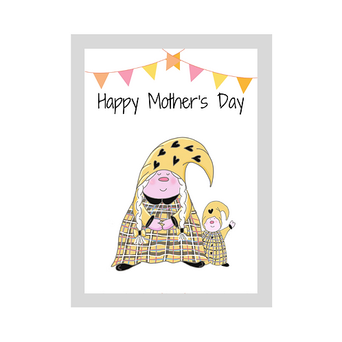 The Cornish Gnome - Mothers day Card -Toddler Boy