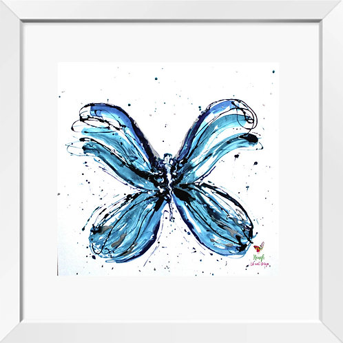 Butterfly painting (blue)   Print
