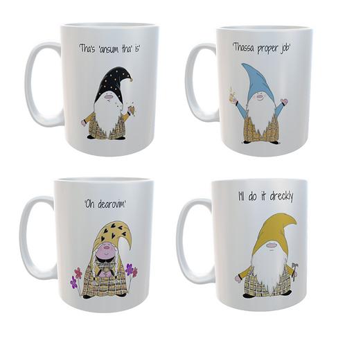 The Cornish Gnome - 4 ceramic mugs