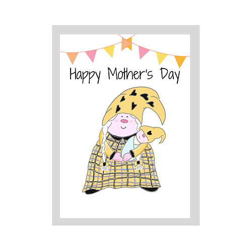 The Cornish Gnome - Mothers day Card -  Baby boy