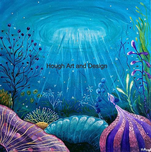 Reef painting   The original painting of 'Ocean Garden'