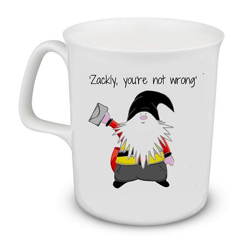 Cornish Gnome Mug - Postman Zackly -bone china and hand printed, personalise op