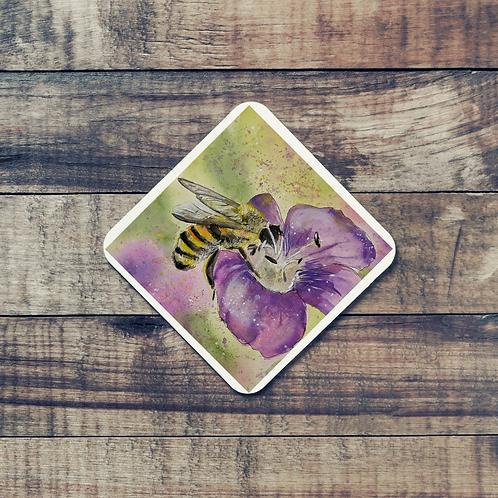Animal Aura - Coaster - Bumble Bee on flower