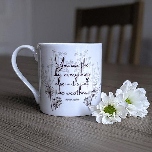 Minfulness quote mug - Bodhi range - Sky