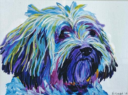 Painted Pet Portrait - Pop Art Bright Colours