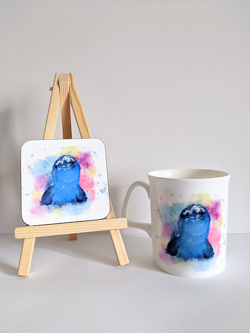 Sealife Mug and coaster set - Dolphin
