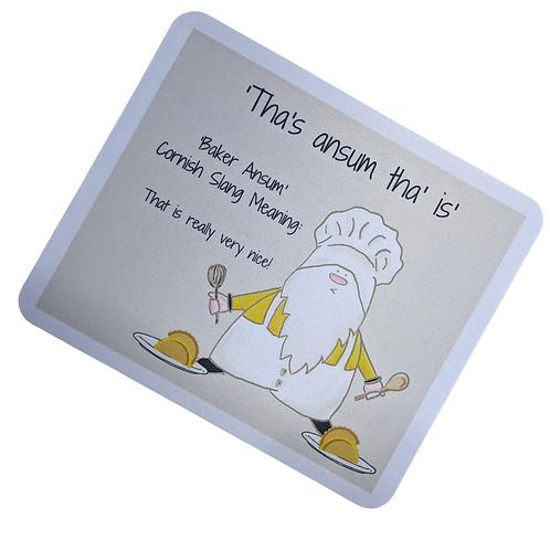 The Cornish Gnome Mousemat -Baker Ansum
