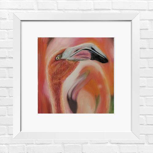 Flamingo art painting print