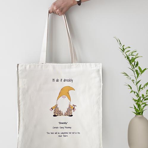 Cornish Gnome 'Dreckly' Tote Bag - personalise option