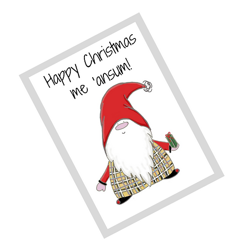 The Cornish Gnome - Dreckly - A5 Christmas card