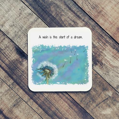 Quote Art coaster, The Wish