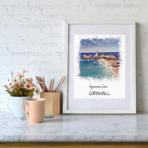 Kynanace Cove, Cornwall art print