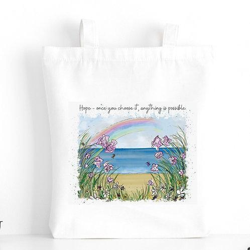 Quote Art Tote Bag, Hope