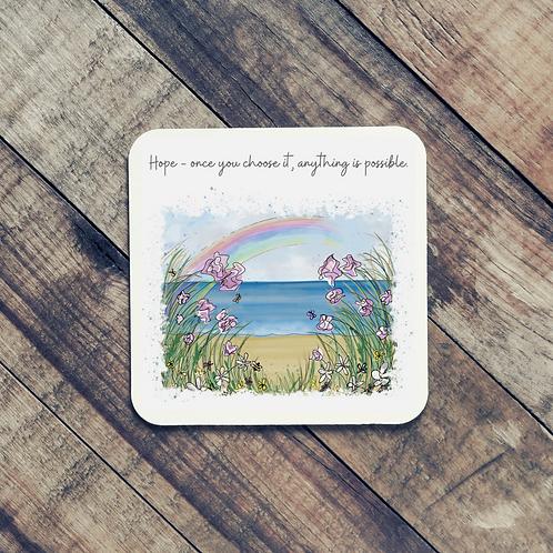 Quote Art Coaster, Hope