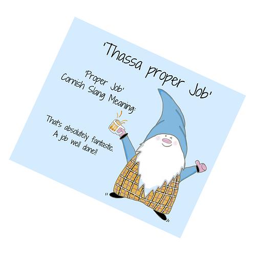 The Cornish Gnome Mousemat - Poper Job