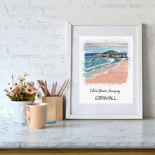 Fistral Beach, Newquay, Cornwall art print