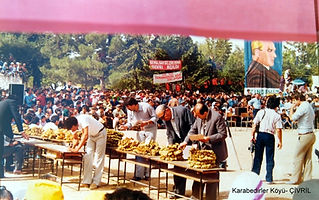 Karabedirler tütün festivali