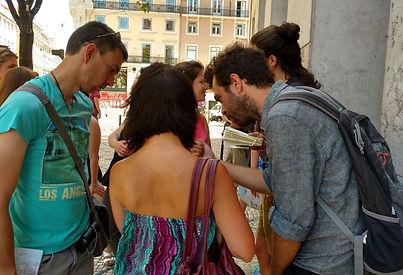 Giuliano guiding a tur