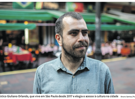 The Brazilian newspaper, Folha de Sao Paulo, is talking about me and my job!