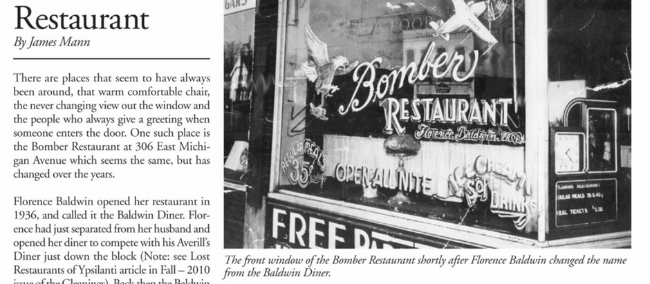 Researched History on the Bomber Restaurant
