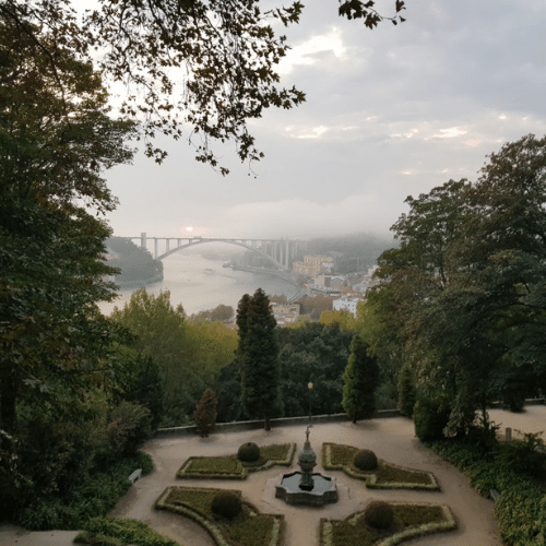 Vista sobre o Rio Douro e Ponte da Arrábida