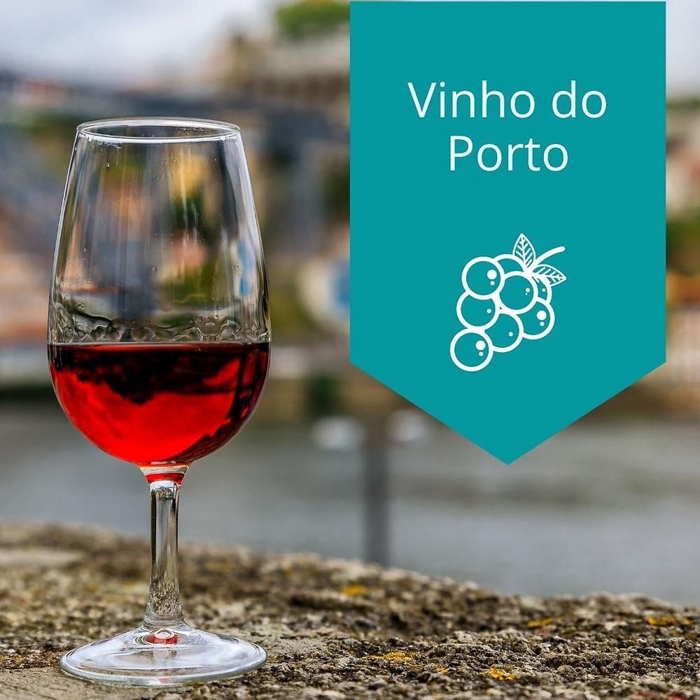 Copo com vinho do Porto