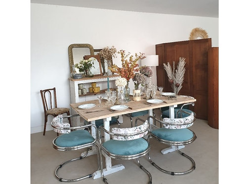 UNIQUE chaises 70's fleuries