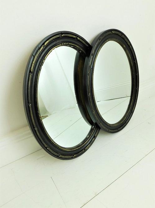 Miroir de style, patiné noir et doré (2 disponibles)