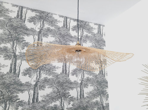 Abat-jour en canne de rotin 75 cm